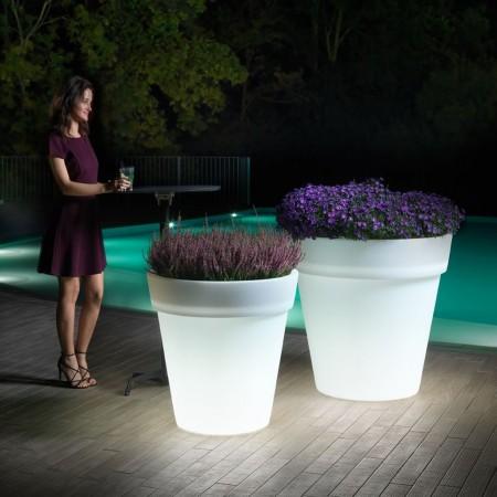 Vaso cachepot Easy con luce, LYXO