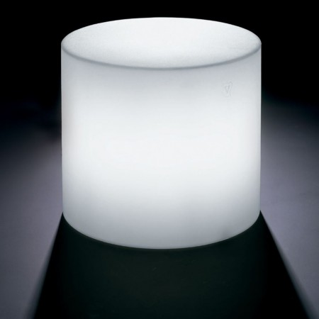 POUF HOME FITTING CILINDRO con luce, LYXO