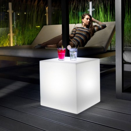 Pouf home fitting CUBO con luce, LYXO