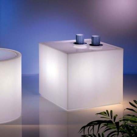 HOME FITTING TAVOLINO CUBO con luce, LYXO