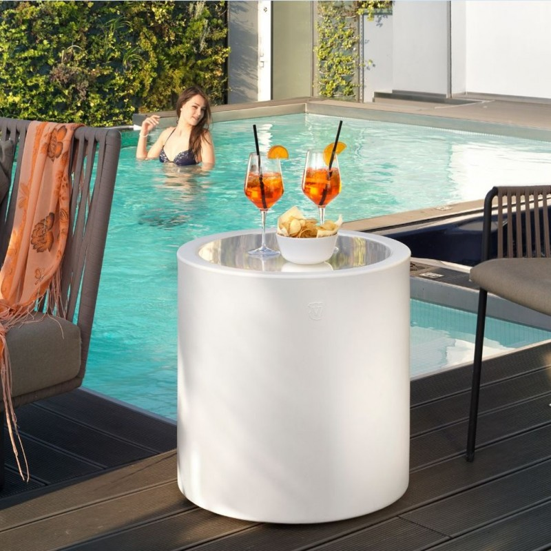 Home Fitting Cylinder Coffee Table Lyxo Italiving Outdoor