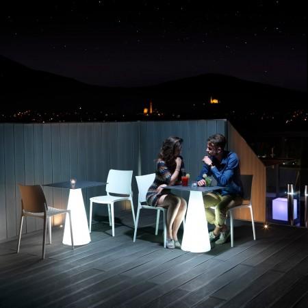 Tavolo TIFFANY con luce h73, LYXO