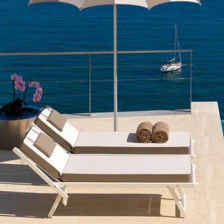 ULISSE sun bed, Crema Outdoor