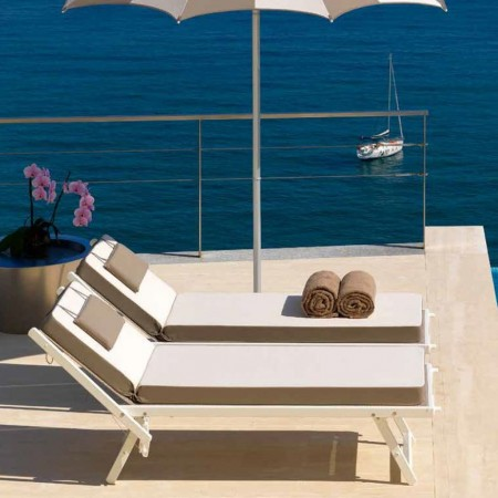 ULISSE sun bed, Ombrellificio Crema