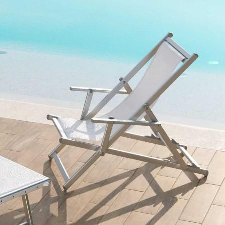 ATENA deck chair, Ombrellificio Crema