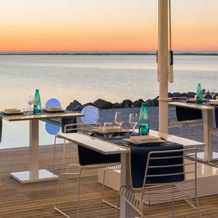 ORIONE SQUARE table, Crema Outdoor