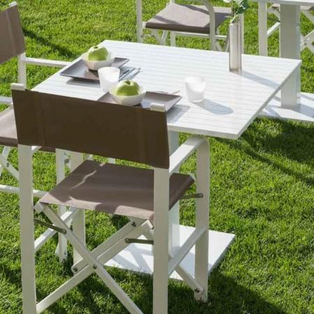 Tavolo quadrato ORIONE, Crema Outdoor