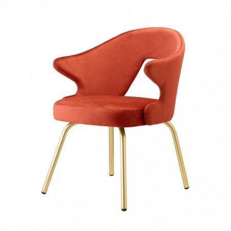 Poltrona YOU con gambe effetto ottone satinato, Scab Design