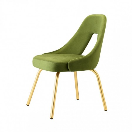 ME chair with satin effect brass legs, Scab Design