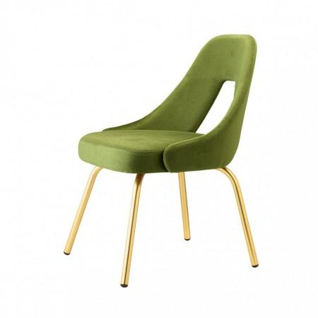 Sedia ME con gambe effetto ottone satinato, Scab Design