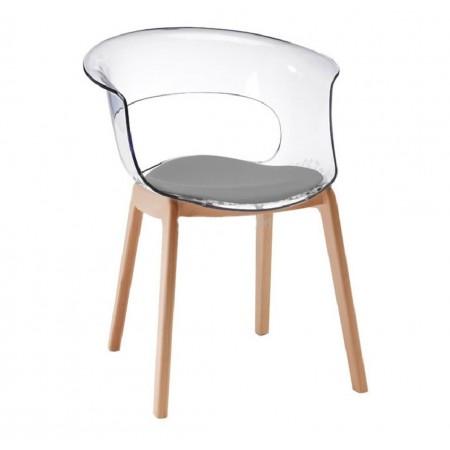 Sedia NATURAL MISS B ANTISHOCK con cuscino, Scab Design