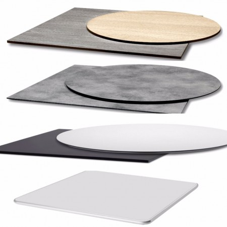 Table tops for Nemo, Domino, Tiffany, Rhino and Cross bases, Scab Design