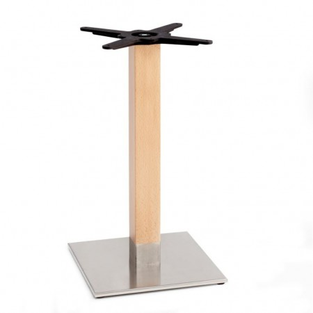 NATURAL TIFFANY table base with square base, Scab Design