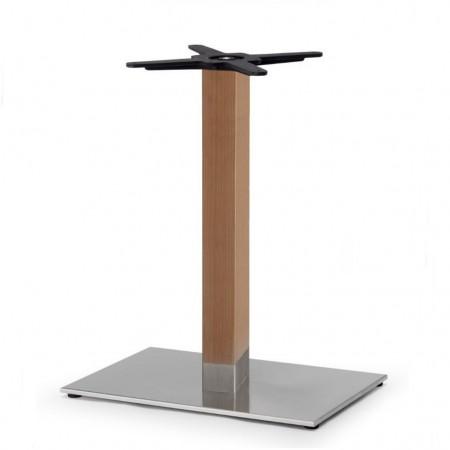 Basamento tavolo NATURAL TIFFANY, base rettangolare e colonna quadrata, Scab Design