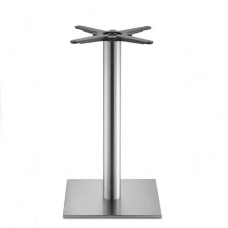 Basamento tavolo TIFFANY, base quadrata e colonna tonda, Scab Design