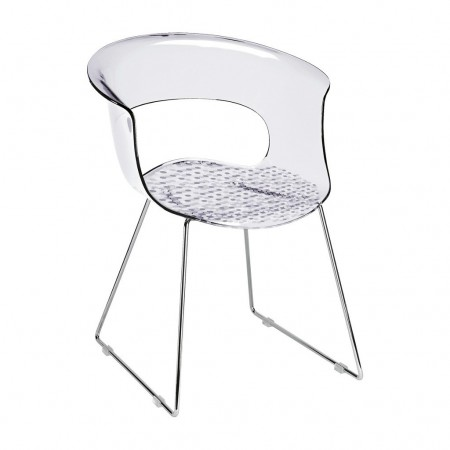 MISS B ANTISHOCK chair with sledge frame, Scab Design