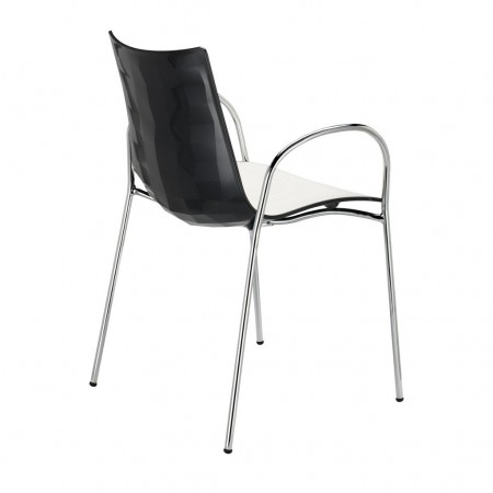 ZEBRA BICOLORED chair with armrests, Scab Design