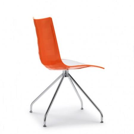 ZEBRA BICOLORED trestle chair, Scab Design