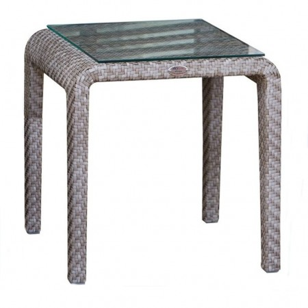Side table with glass, Journey collection, Skyline Design