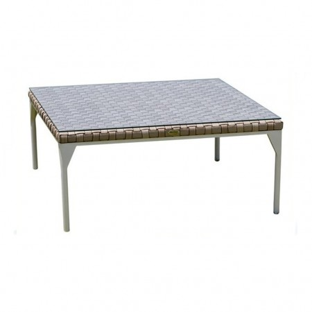 Coffee table with glass 95x95, Brafta collection, Skyline Design