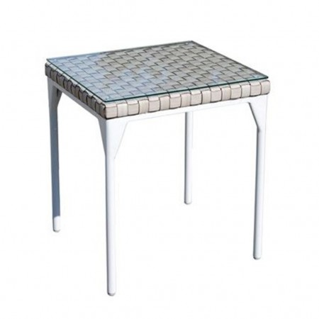 Side table with glass, Brafta collection, Skyline Design