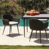 Sedia con braccioli Serpent collection, Skyline Design