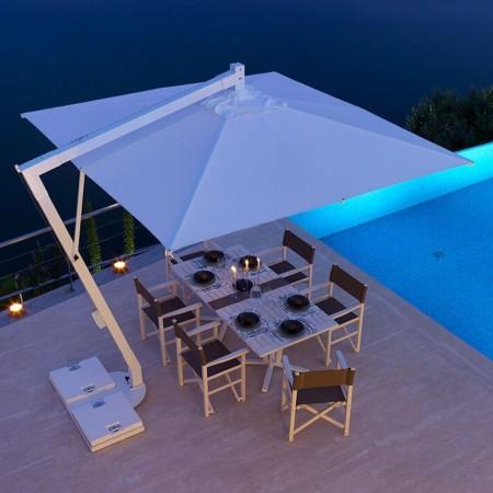 Maxi umbrella EFESTO, Crema Outdoor