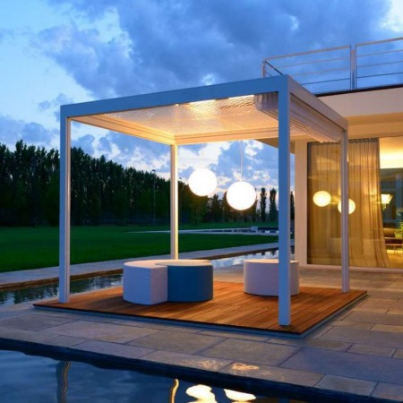 Gazebo LEUCOS, Crema Outdoor