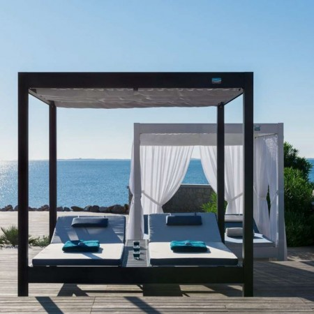 Daybed AFRODITE, Crema Outdoor