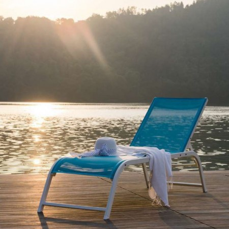ULISSE Design sunbed, Crema Outdoor