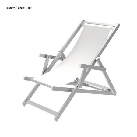 ATENA deck chair, Crema Outdoor