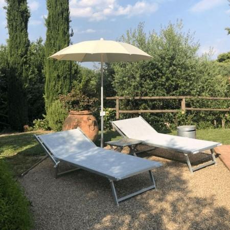 ULISSE VIP sunbed, Crema Outdoor