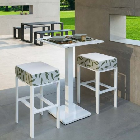 ORIONE BAR table, Crema Outdoor