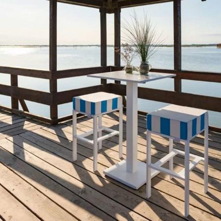 FEBE stool, Crema Outdoor