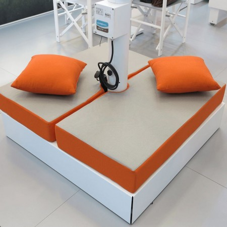 DEDALO cushion for umbrella base, Crema Outdoor