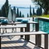 URANO set (table + benches), Crema Outdoor