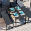 Set URANO (tavolo + panchine), Crema Outdoor
