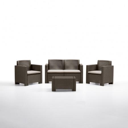 ALABAMA 4-seater lounge set, B:Rattan, BICA (full pallet)