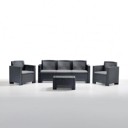 ALABAMA 5-seater lounge set, B:Rattan, BICA (full pallet)
