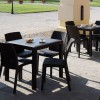 DALLAS square table, B:Rattan, BICA (full pallet)