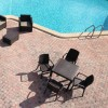Tavolo quadrato DALLAS, B:Rattan, BICA (pallet completo)
