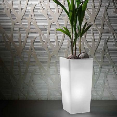 Vaso cachepot quadrato CLOU con luce, VECA