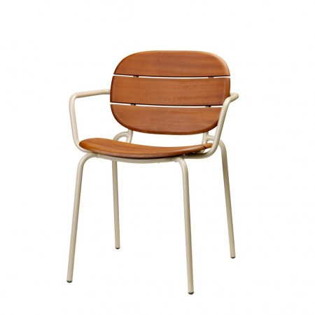 SI-SI Wood chair with armrests, Scab Design