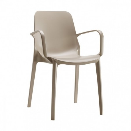 GINEVRA GO GREEN chair with armrests, Scab Design