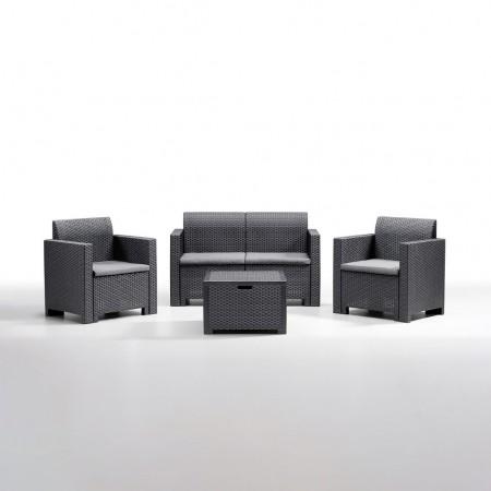 NEBRASKA 4-seater lounge set, B:Rattan, BICA (full pallet)