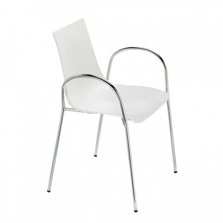 ZEBRA TECHNOPOLYMER chair with armrests, Scab Design