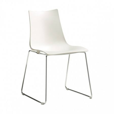 ZEBRA TECHNOPOLYMER chair with sledge frame, Scab Design