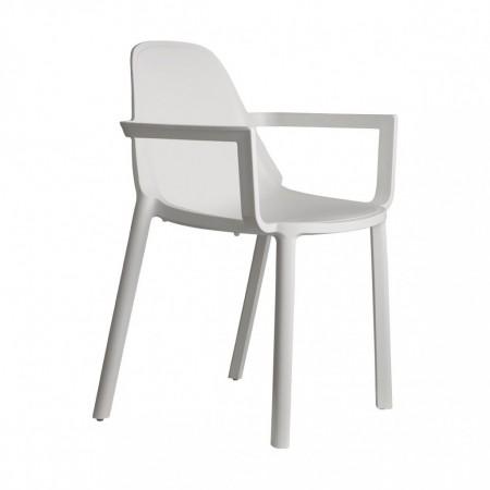 Chair PIU' with armrest, Scabdesign